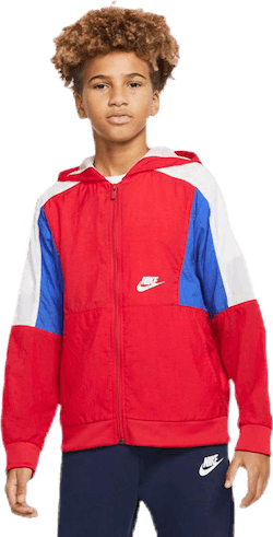 Woven Front Zip Training Jr Red