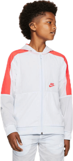 Woven Front Zip Training Jr Grey