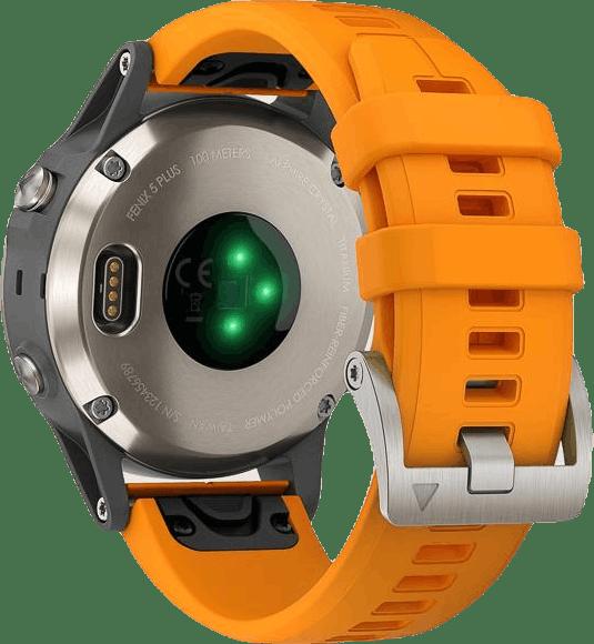 Fenix 5 Plus Sapphire Titanium Orange