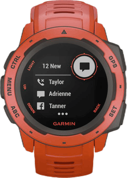 Instinct GPS Watch Orange/Red