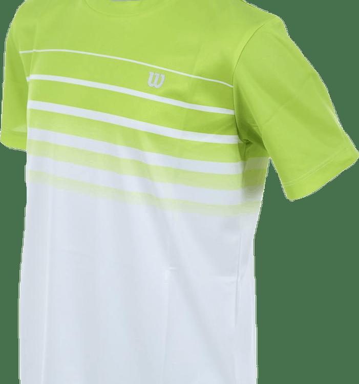 Striped Crew White/Green