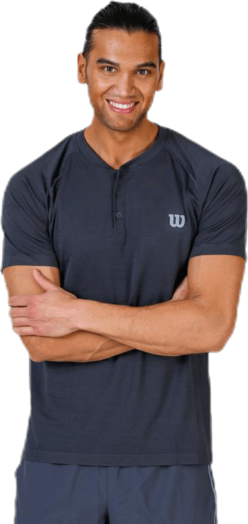 Competition Seamless Henley Black