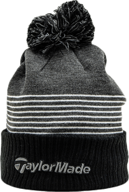TM20 Bobble Beanie White/Black/Grey