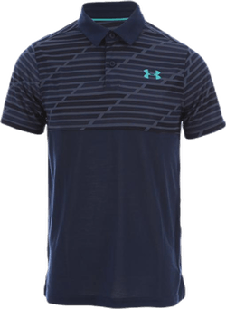 Threadborne Blocked Polo Blue/Patterned