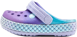 Crocband Mermaid Metallic Purple/Turquoise