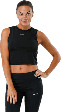 Run Division Crop Top Black