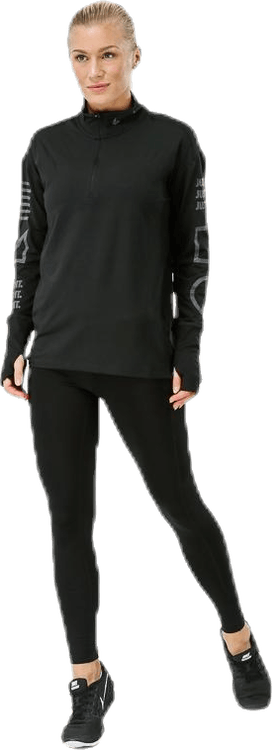 Halfzip Flash Top Black/Grey