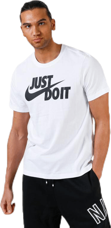 Just Do It Swoosh Tee White/Black