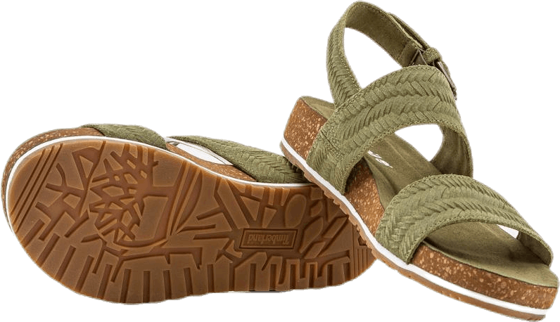Malibu Waves 2 Band Sandal Green