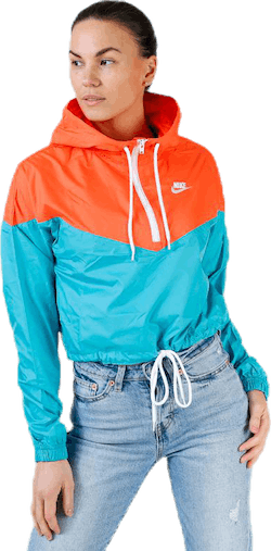 Heritage Windbreaker Jacket Orange/Turquoise