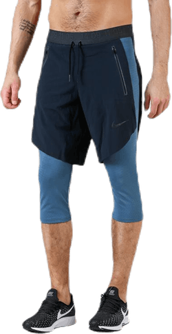 2in1 3QTR Short Teck Pack Blue/Black