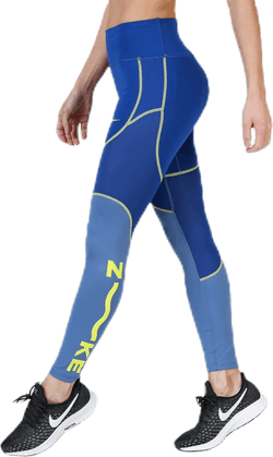 One 7/8 Tights Blue/Yellow