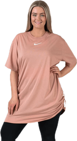 Swoosh Dress Plus Pink/White