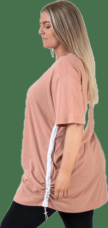 Swoosh Dress Plus Pink/White