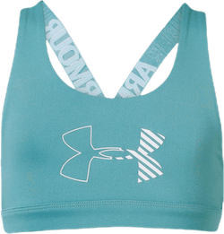 Armour HeatGear Graphic Bra Youth Blue