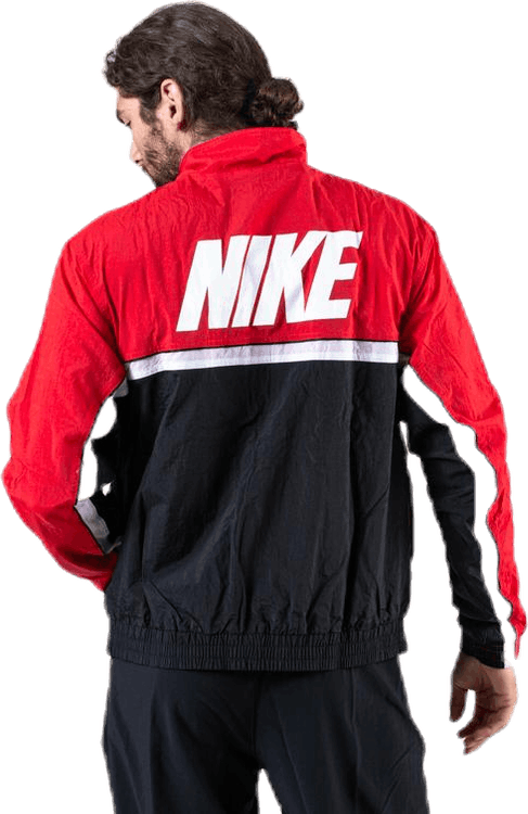 Woven Throwback Jacket Black/Red