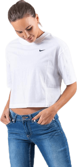 Nsw Essential Cropped Top Ss White/Black