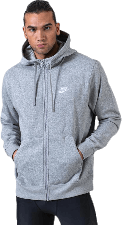 Club Hoodie Full-Zip White/Grey