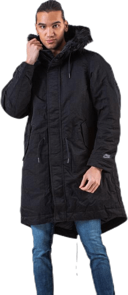 Down Fill Hood Parka Black