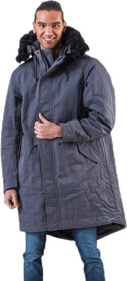 Down Fill Hood Parka Grey
