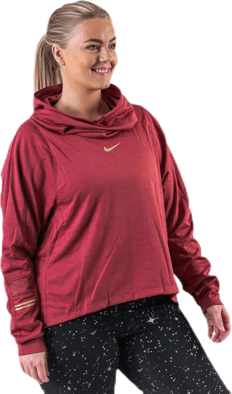 Top LS Glam Mid Plus Gold/Red