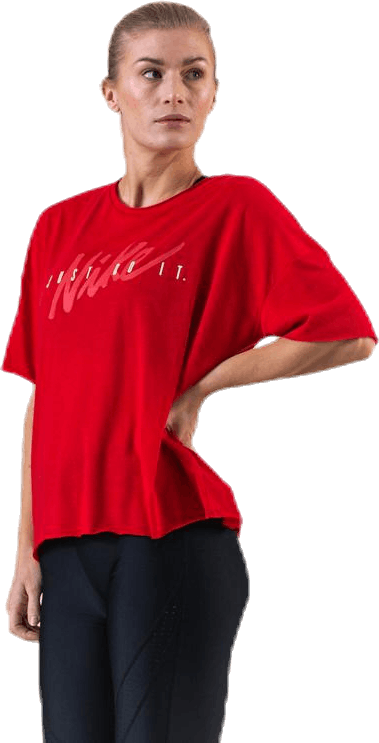 Dri-FIT Oversized SS Top Grx White/Red