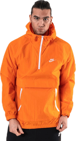 Jacket Hood Woven Orange