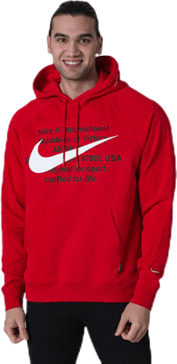 NSW Swoosh Hoodie White/Red