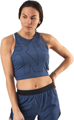 Streaker 2.0 Run Crop Top Blue
