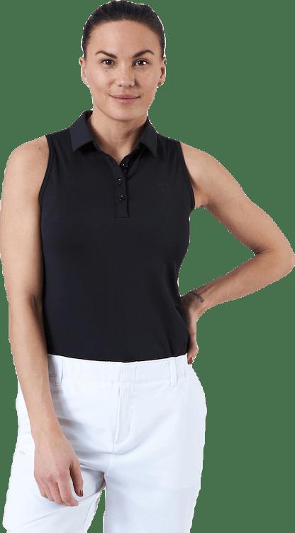 Zinger Sleeveless Polo Black