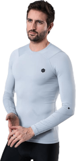 Ua Hg Rush Compression Ls Grey