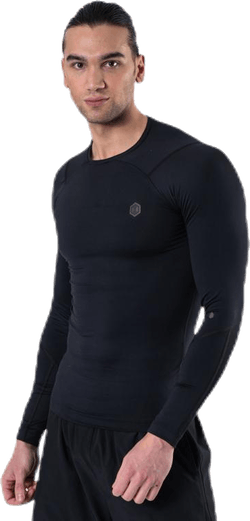 Ua Hg Rush Compression Ls Black
