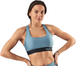 Armour Mid Crossback Bra Blue