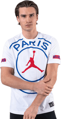 Jordan X Psg Tee White/Game Royal/University Red