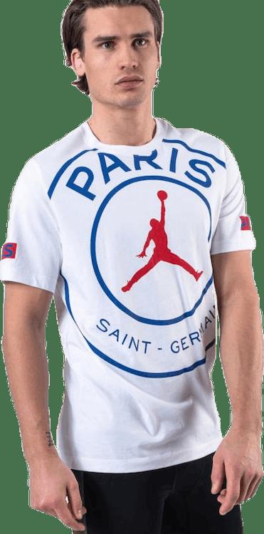 Jordan X Psg Tee White/Game Royal/University Red