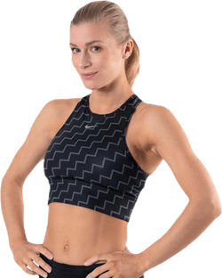 Medium Pad Bra High Neck Neo Black
