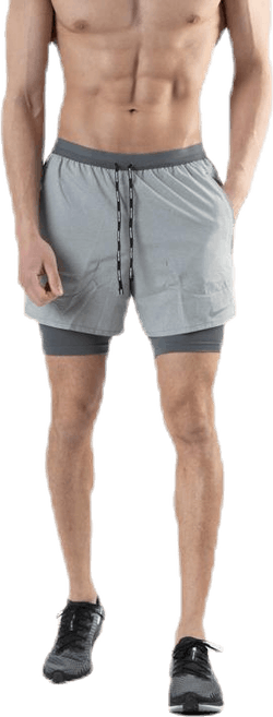 Flex Stride 2in1 Short 5in Grey