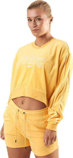 Nsw Retro Femme Crew Terry Yellow