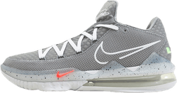Lebron Xvii Low Particle Grey/White-Lt Smoke Grey-Black