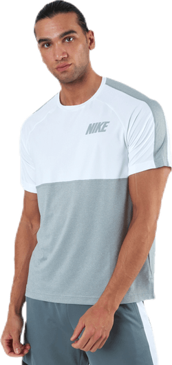 Dri-FIT Hyper SS Top White/Grey