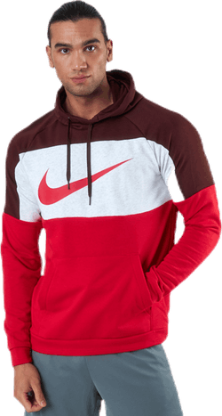 Dri-FIT Pullover Mock White/Red