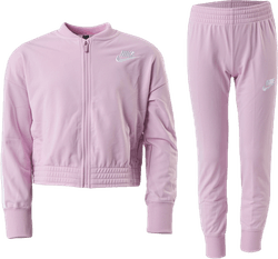 Girls Track Suit Tape  Pink/White