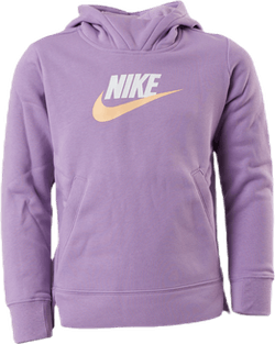 Girls Big Logo Pullover Purple/White