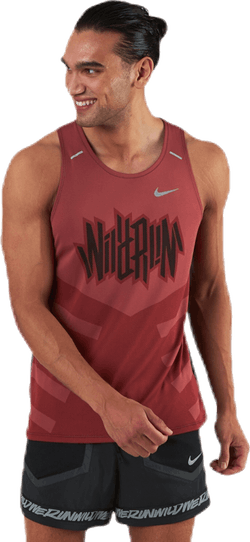 Dri-FIT Rise 365 Wild Run Tank Black/Red