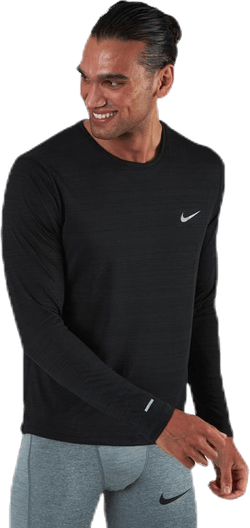 Dri-FIT Miler Top LS Black/Silver