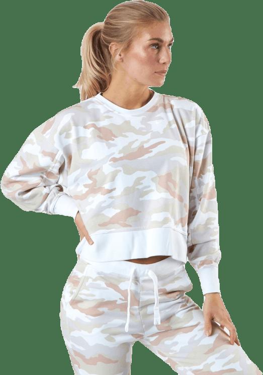 Women'S Dri-Fit Get Fit Training Crew White/White