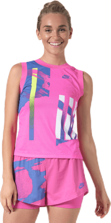 Court Slam Tank Pink/White