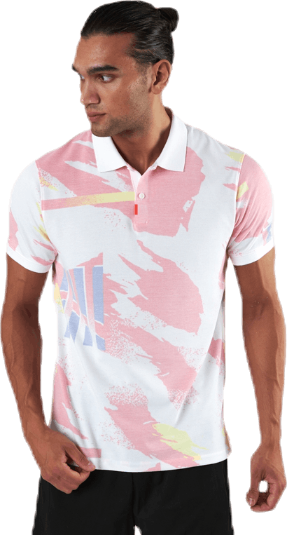 Challenge Court Polo White/Red