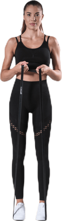 Fitness Seamless Mesh Tights Black