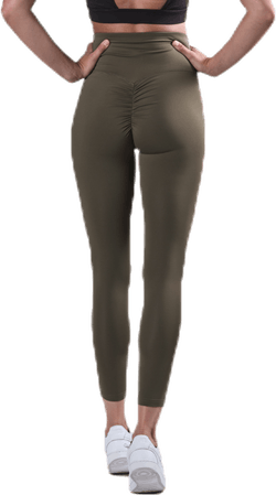 Fitness Scrunch Tights 7/8 Green